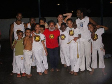 A bunch of capoeira kids that joined us after training.